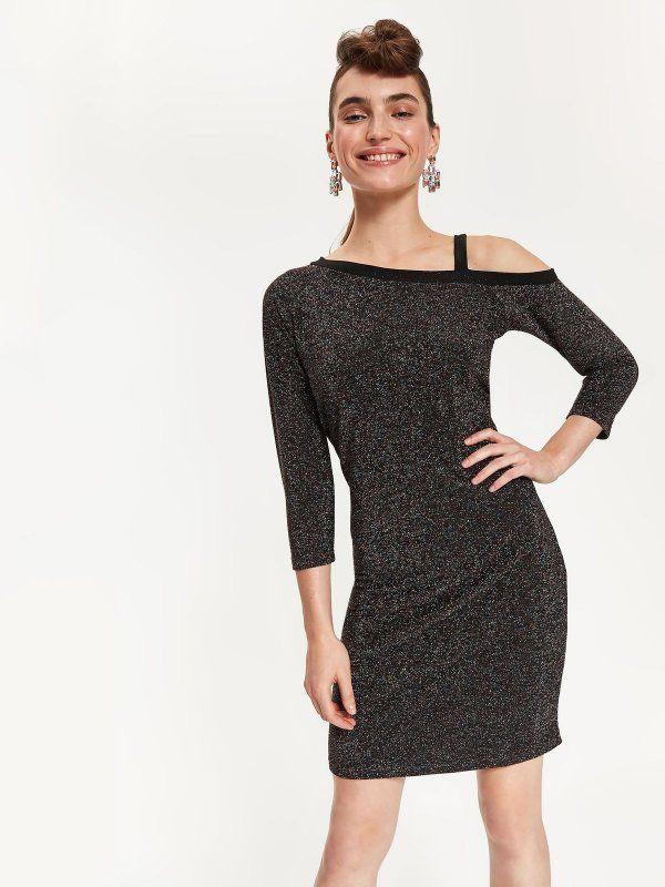Sukienka Damska Czarna Ssu2568 Sukienka Top Secret Odziezowy Sklep Internetowy Top Secret Dresses Shoulder Dress Fashion