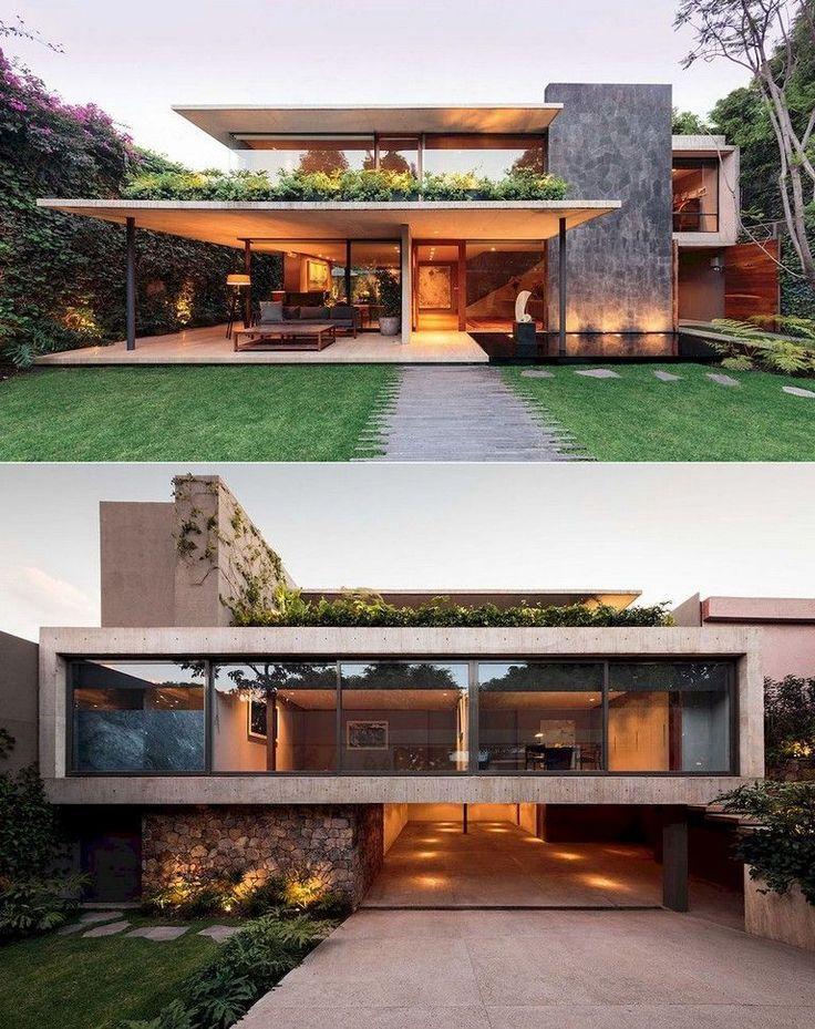 80+ ideias de design de arquitetura de casa moderna maravilhosa   – dreamhouse    Traumhaus