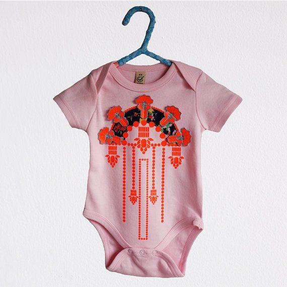EMBELLISHED BABYGROW. Organic cotton babygrow by dAKOTArAEdUST