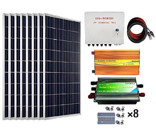 Eco Worthy 800 Watts Solar Panel Kit 8pcs 100w Poly Solar Panel Kit Energy Off Grid Hacks Off Grid Inverter Solar Panel Kits Solar Panels