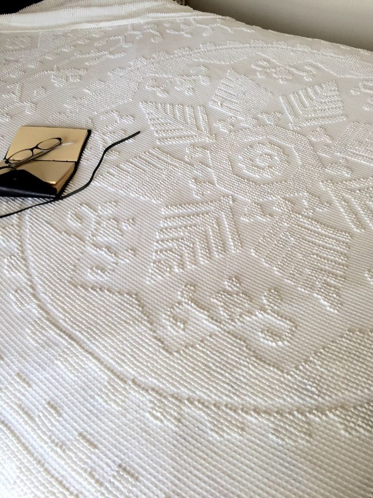 Chenille Bedspread / Chenille Blanket by Northforkvintageshop on Etsy https://www.etsy.com/listing/276568934/chenille-bedspread-chenille-blanket