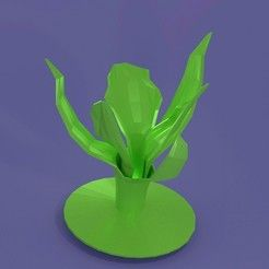 lowpoly orchid