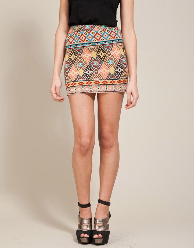 Aztec Tube Skirt