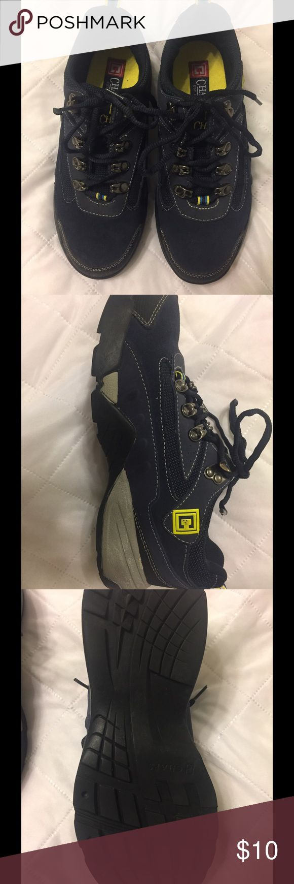 Chaps thick soled shoes Navy blue hiking/tenner shoe. They are very thick soled and heavy Chaps Shoes Sneakers