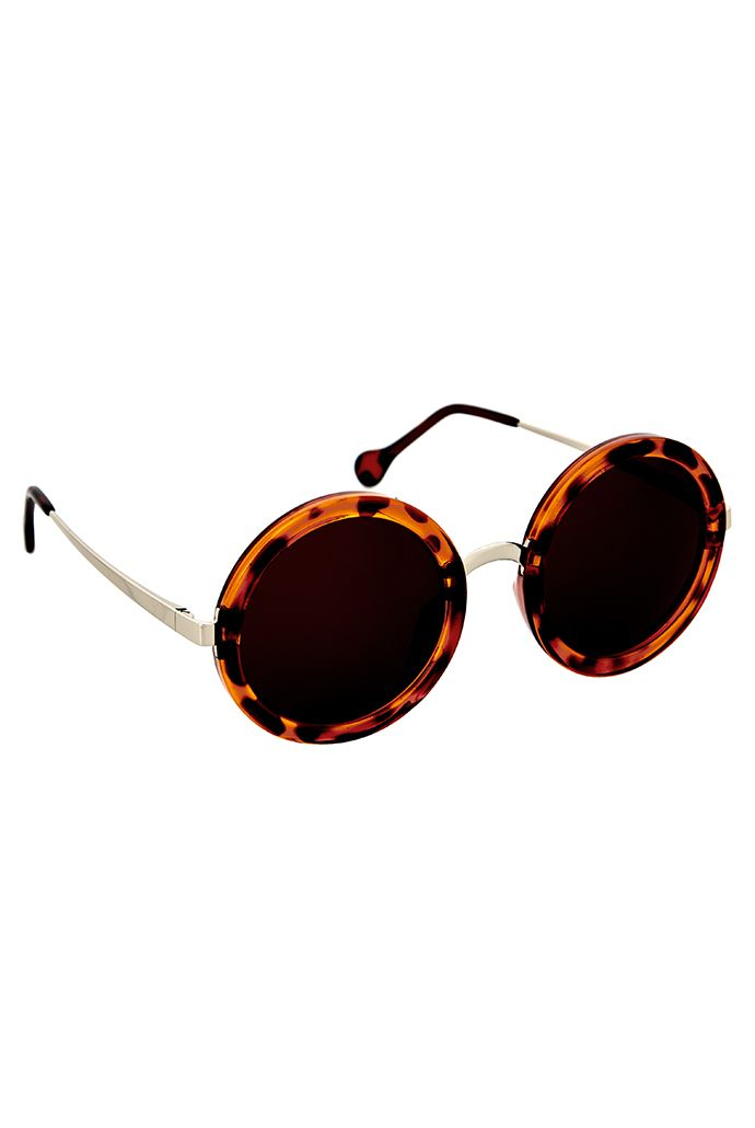 Louche Marika Sunglasses by: Joy The Store @Joy The Store Round frame Tortoiseshell Lightweight FREE Louche hard case - just add case to basket and discount will be automatically applied at checkout | Eye Wear > Sunglasses > Womens sunglasses