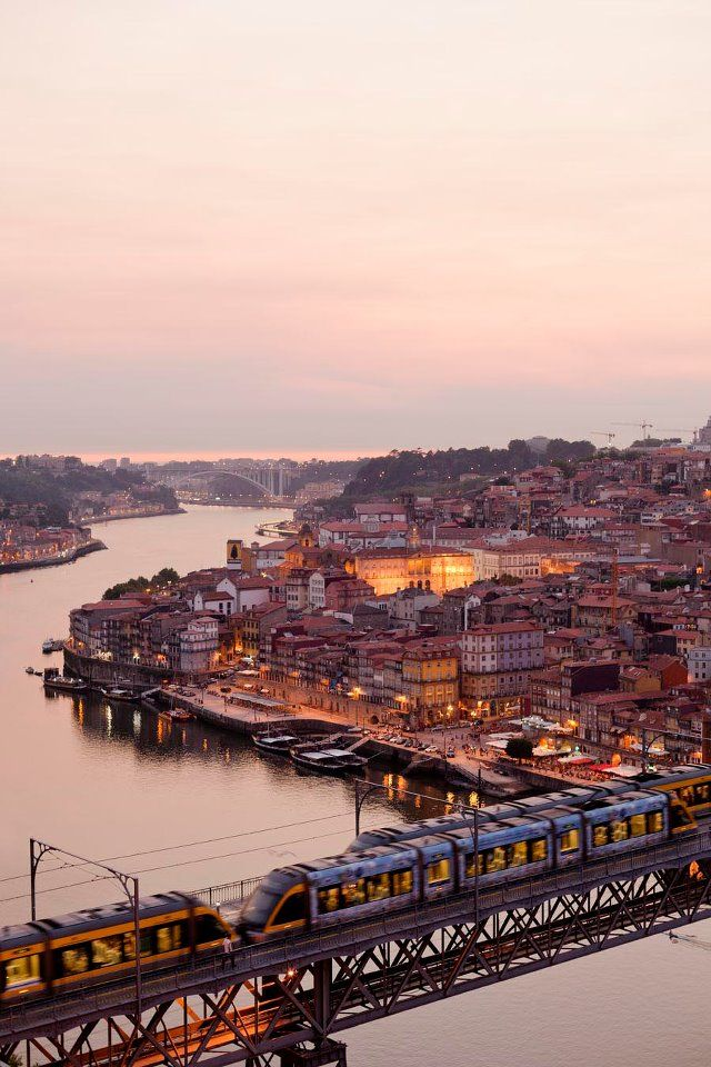 Porto - view from Eiffel's bridge Find flights to here with https://www.lowcosthero.com