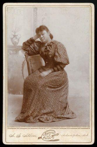 BLACK-WOMAN-ARKADELPHIA-ARKANSAS-1880s-CABINET-CARD-ANTIQUE-PHOTO