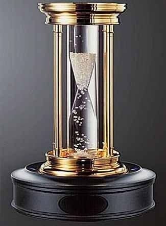 Diamond filled hourglass***** 6 million dollars