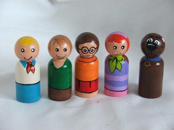 Wooden peg Gang! #ScoobyDoo