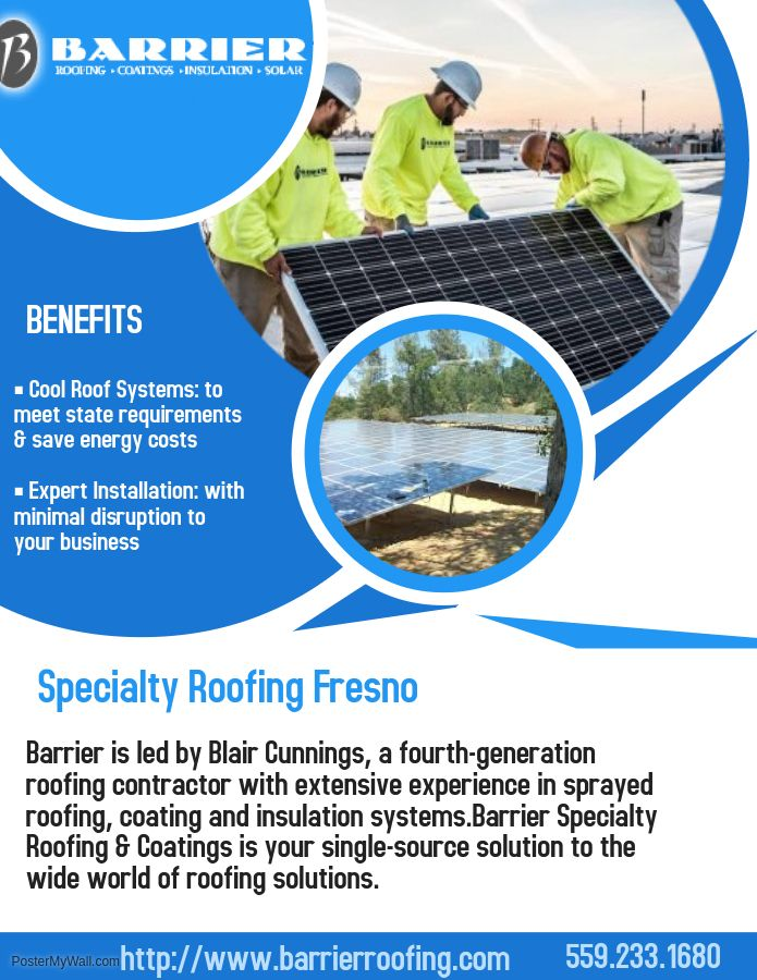 Specialty Roofing Fresno Cool Roof Roofing Systems Roof Restoration