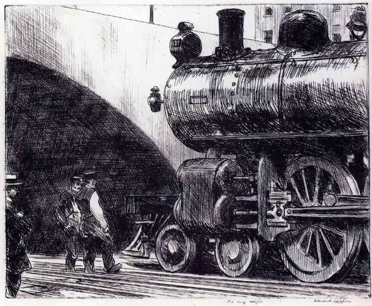 Edward Hopper (1882-1967)  ~  The Locomotive, 1922