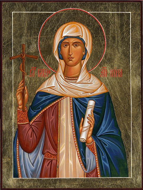 St. Nina of Georgia, Equal to the Apostles by Rublev's Pupil, via Flickr
