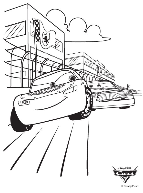 Lightning McQueen Coloring Pages Disney coloring pages