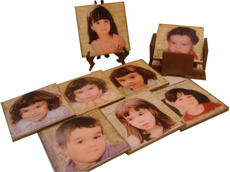 Set de 6 suporturi pentru pahare (coasters) personalizate cu pozele tale!!!
