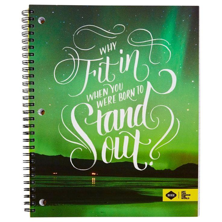 Cahier à reliure spirale–Born to Stand Out de Denik LLC | Cahier à…