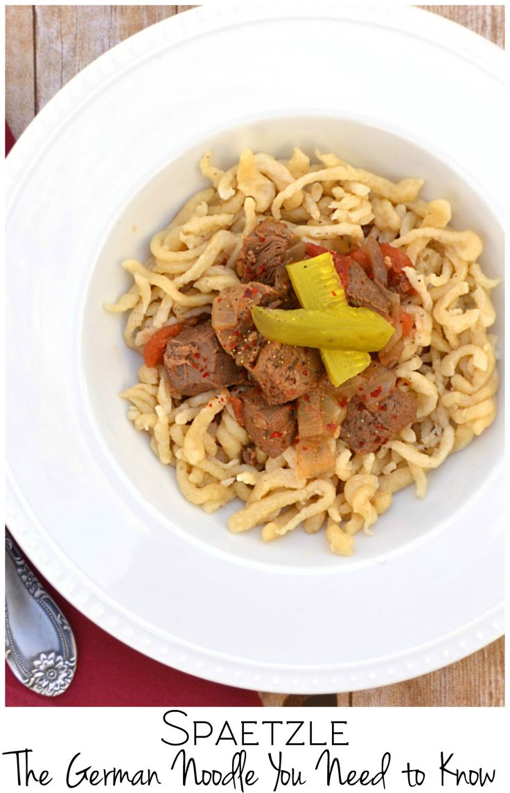 Spaetzle / Spätzle. A German noodle that is hearty, delicious & simple to make. Original version & a gluten-free version made with @bobsredmill    #BobsHolidayCheer #ad   www.craftycookingmama.com