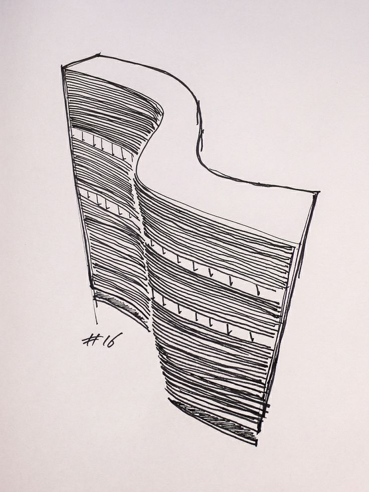 #16 Copan Building, 1954, by Oscar Niemeyer in São Paulo, Brazil // sketchingin.wordpress.com