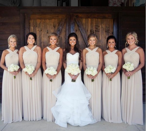 Cream Bridesmaid Dresses. peytonthomas instagram.