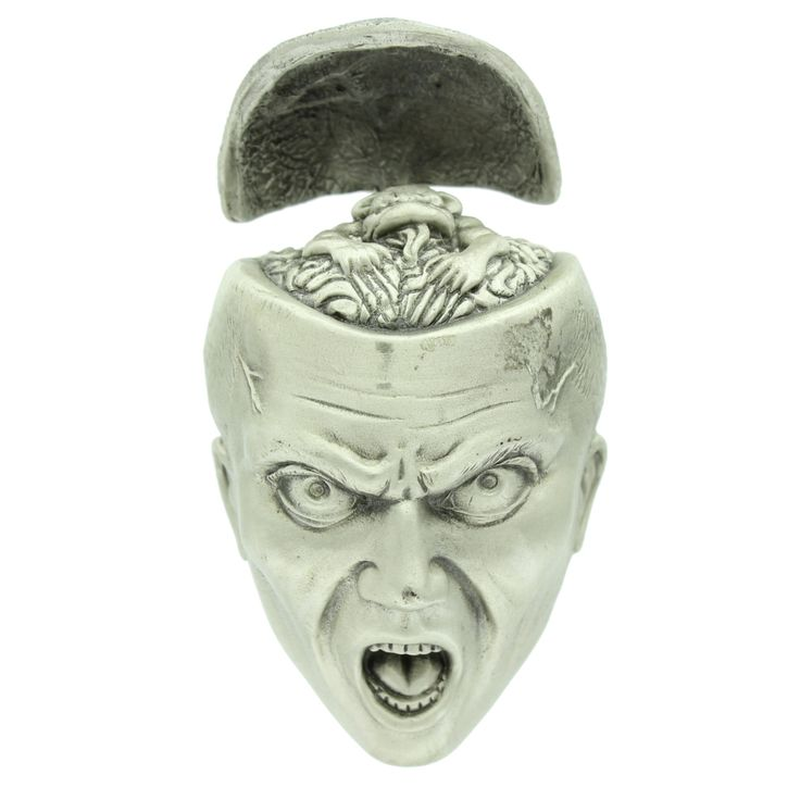 Open Cranium Belt Buckle.  The head opens and closes.