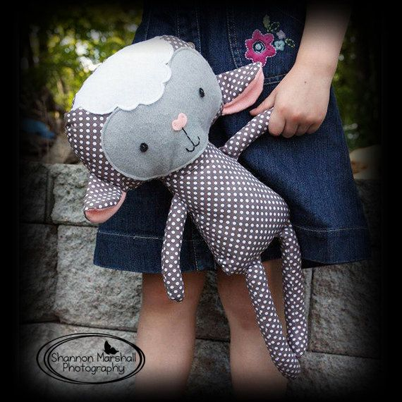 Sheep or Lamb Rag Doll Plush - Joei - Made To Order. Made with Dolls and Daydreams pattern.