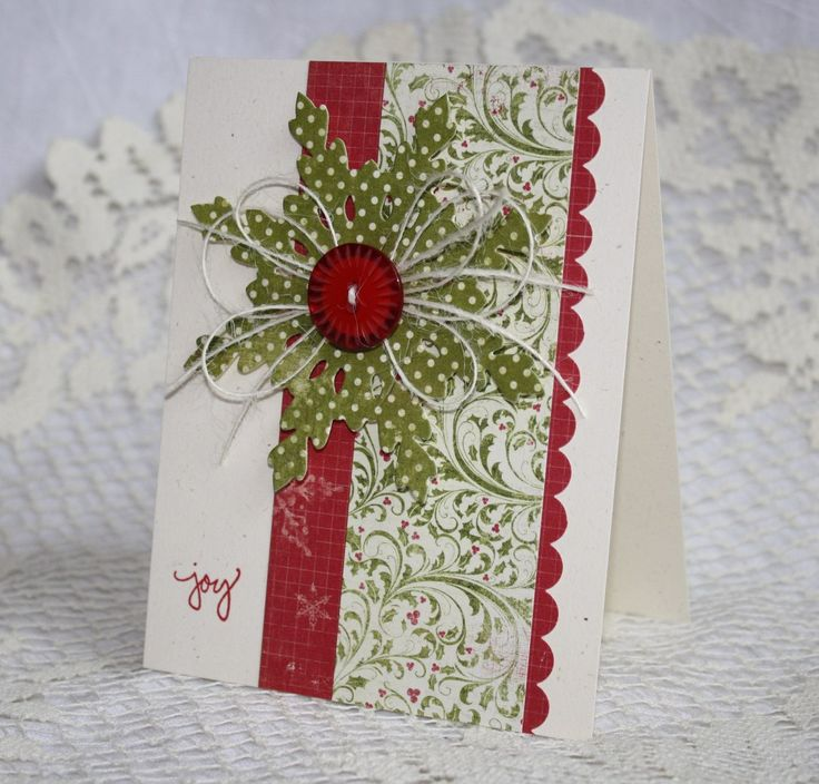 Handmade Holiday - Christmas Greeting Card. $3.50, via Etsy.