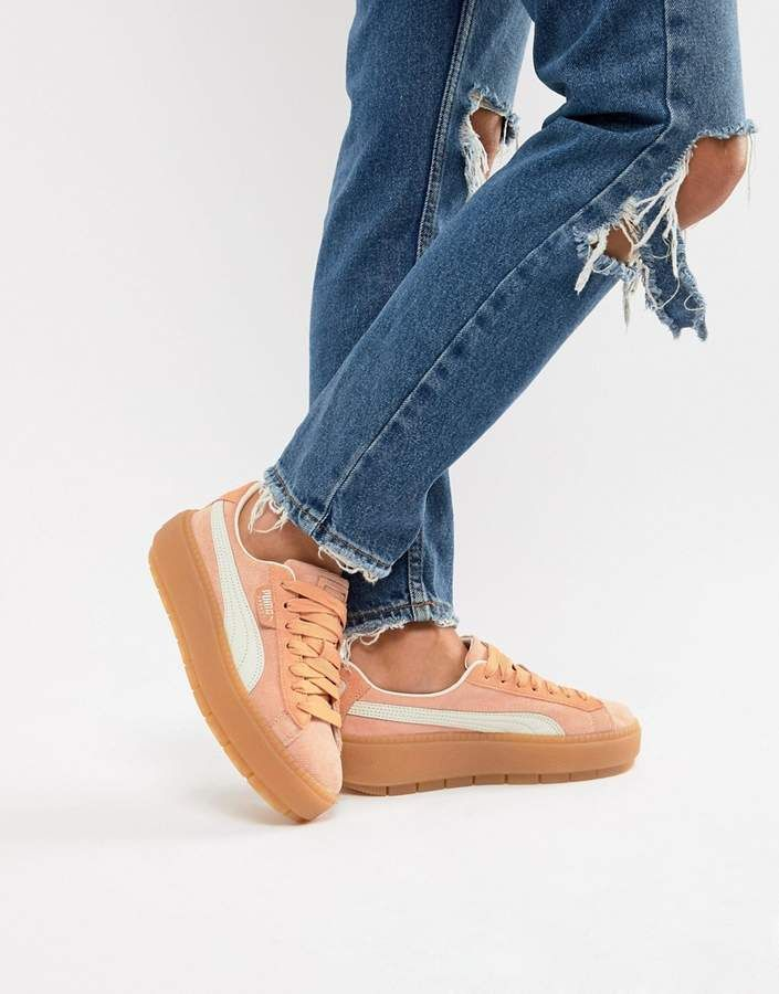 hot sale online 950f1 32861 Platform Trace Corduroy Coral Sneakers # | fashion ...