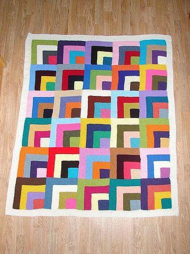 Mitred squares by Klaaske63, via Flickr #knitting