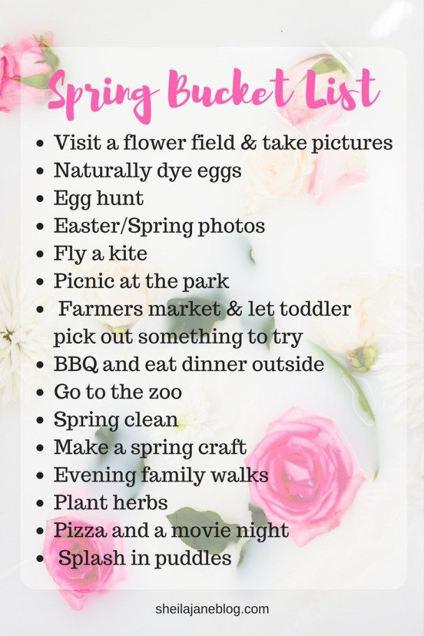 Our Family Spring Bucket List for 2017