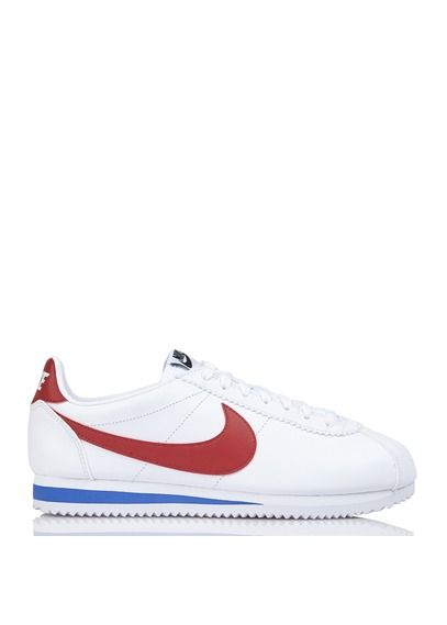 Nike Classic Cortez Leather en cuir lisse Rouge by NIKE