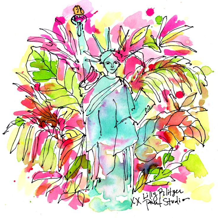 Did you know Lilly had a statue of liberty statue in her backyard? #Lilly5x5