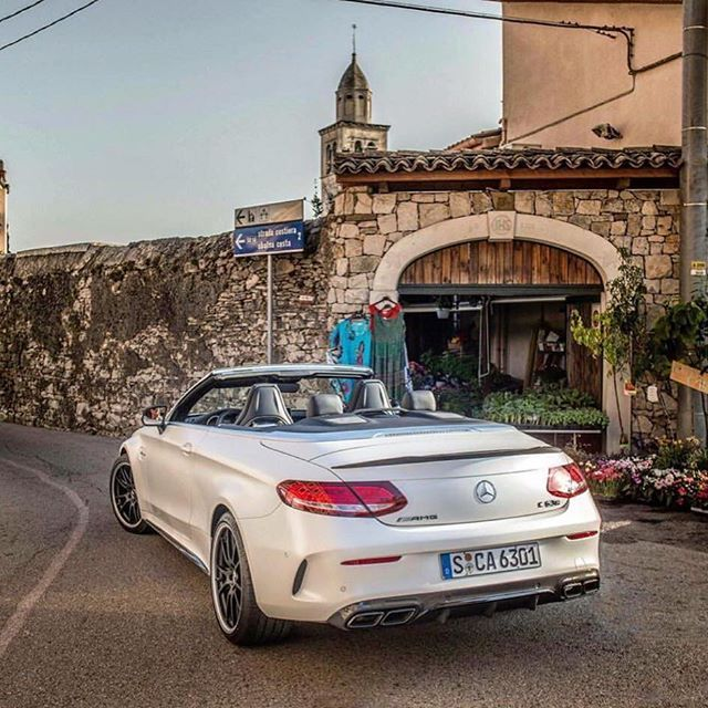 German beauty in Italy #lovecars #mercedes #amg #white #convertible Photo Jack Beauregard @just supercars #ride #engine #sportscar