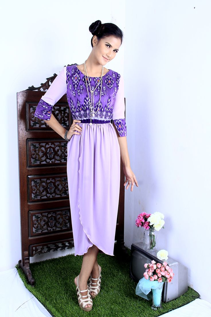 Dress Tenun Ikat | Joglo Sinom Dress | DhieVine | Redefine You