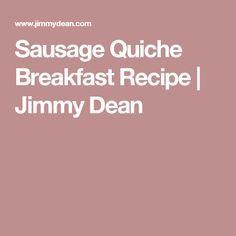 Sausage Quiche Breakfast Recipe   Jimmy Dean