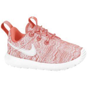 Nike Roshe Run - Girls' Toddler - Bright Mango/White