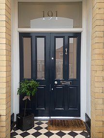 Unique Front Doors Uk Charcoal Grand Victorian Double With Canterbury Throughout Decorating Ideas
