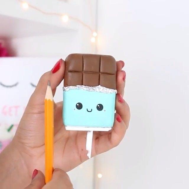 Hand made sharpener  Оригинальная точилка-шоколадка ✏️ Как вам идея? By @allthingsnim