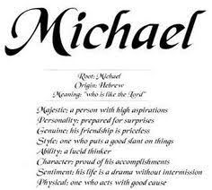 Image result for michael name meaning