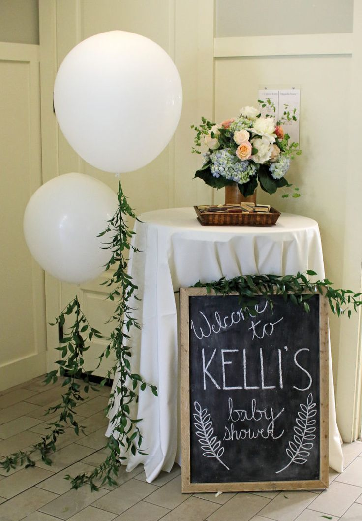 Every baby shower needs a chalkboard sign!
