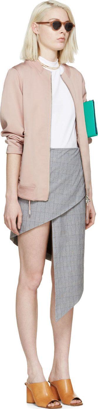 $550 USD Acne Studios: Pink Knit Faviana Bomber Jacket   SSENSE