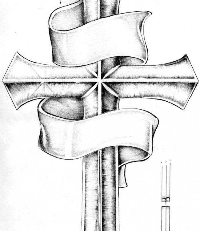 Picture of Cross Tattoo