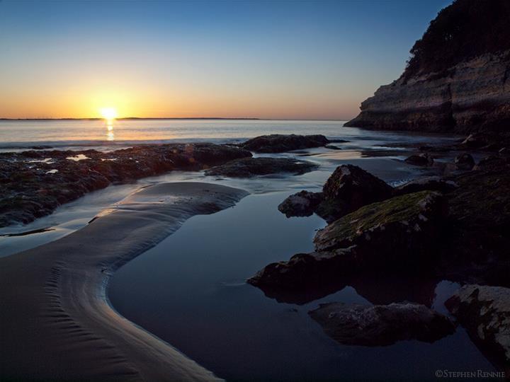 Sunset over the estuary, France.