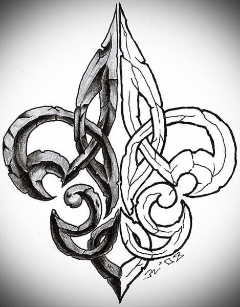 1000 ideas about fleur de lis tattoo on pinterest tattoos chest tattoo and tattoo designs - Tattoo tribal fleur ...