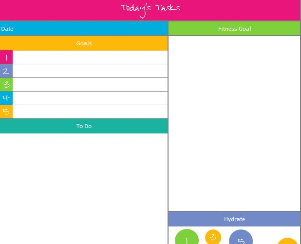 Daily ToDo List  Planner  Printables