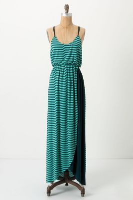 So cute! Striated Slub Maxi Dress / Antropologie dress summer {I wish