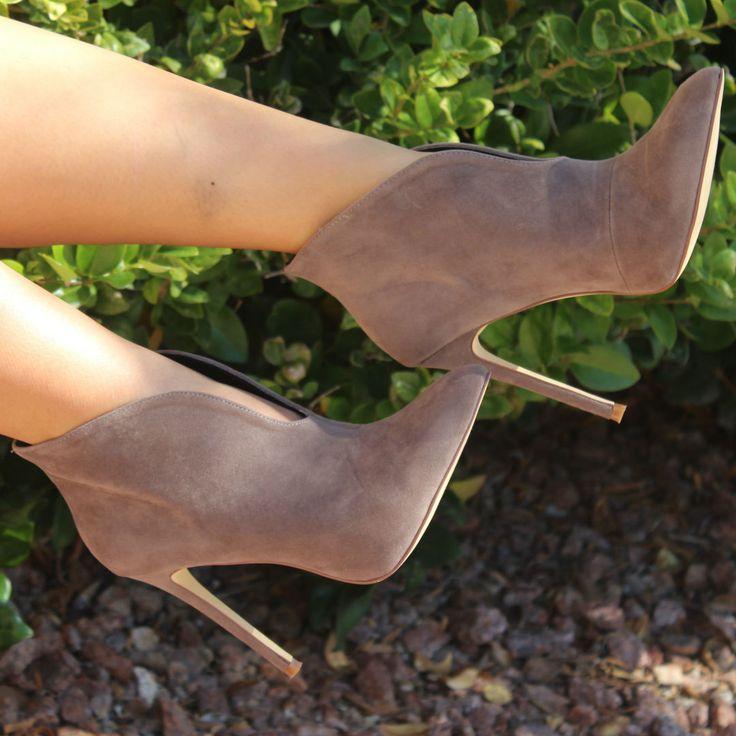 Velvet Stiletto Booties