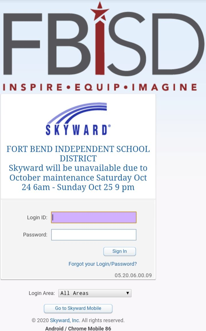 skyward fbisd login