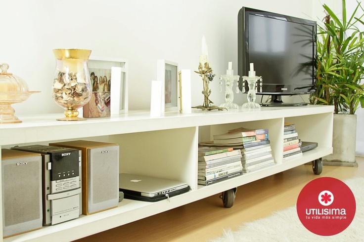 Mueble bajo para tv audio grandes ideas espacios for Muebles bajos para comedor