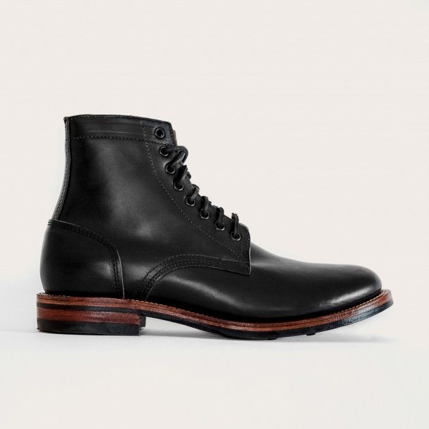 Beautiful American Made Boot Oak Street Bootmakers | Black Dainite Trench Boot - Footwear