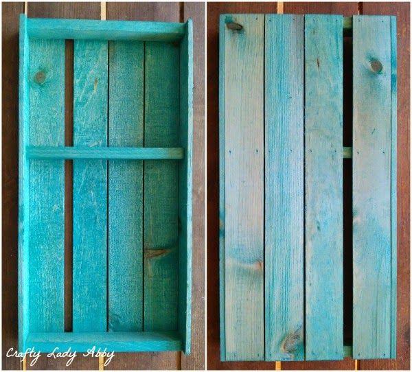 Dye stain a wood crate aquamarine with Rit Dye | Dye Wood ...