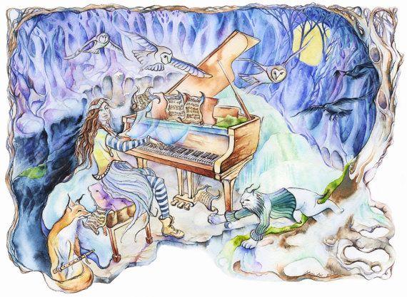 Moonlight Reverie by MysticalWoodsStudio on Etsy
